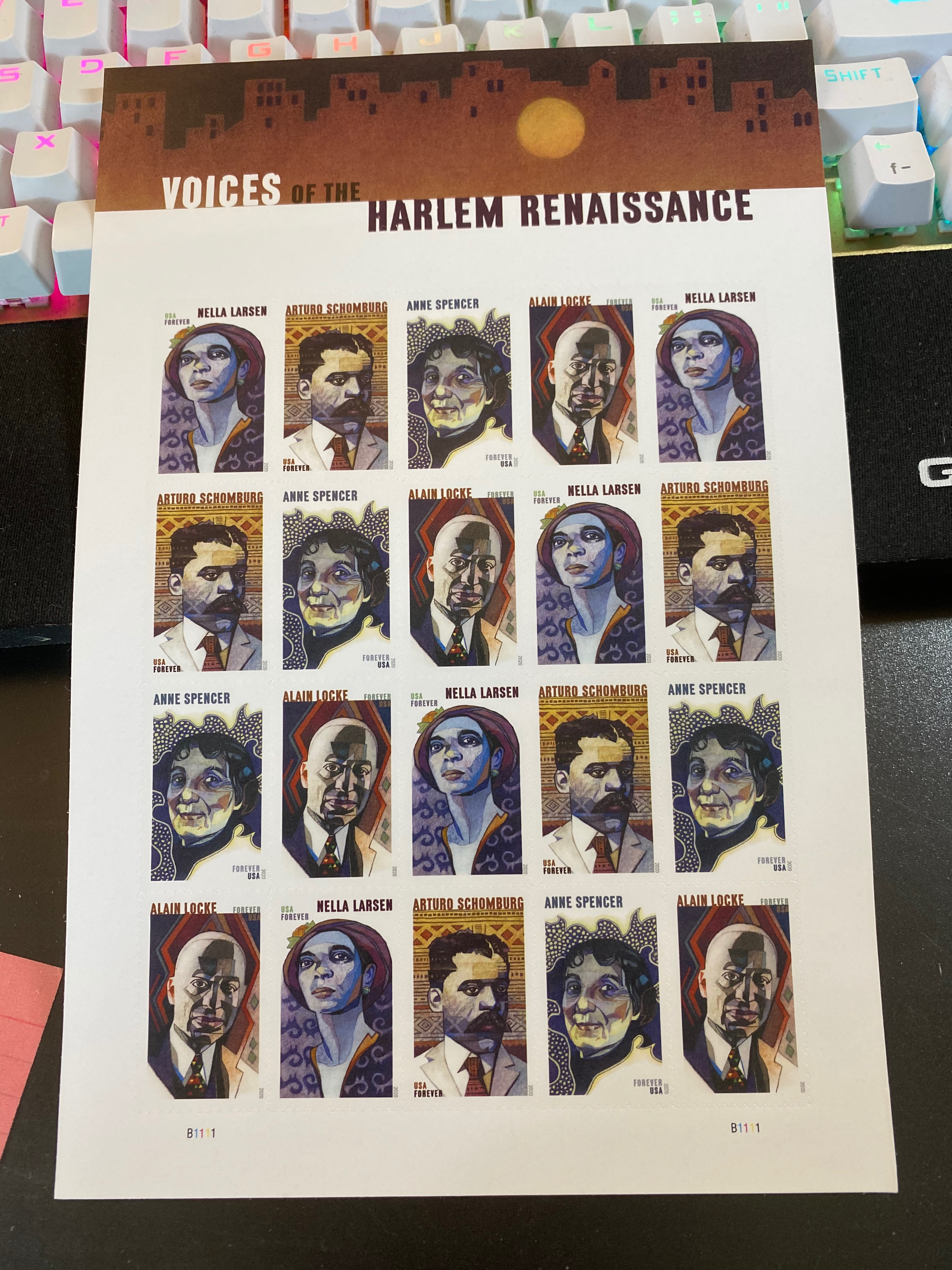Stamp block of Voices of the Harlem Renaissance